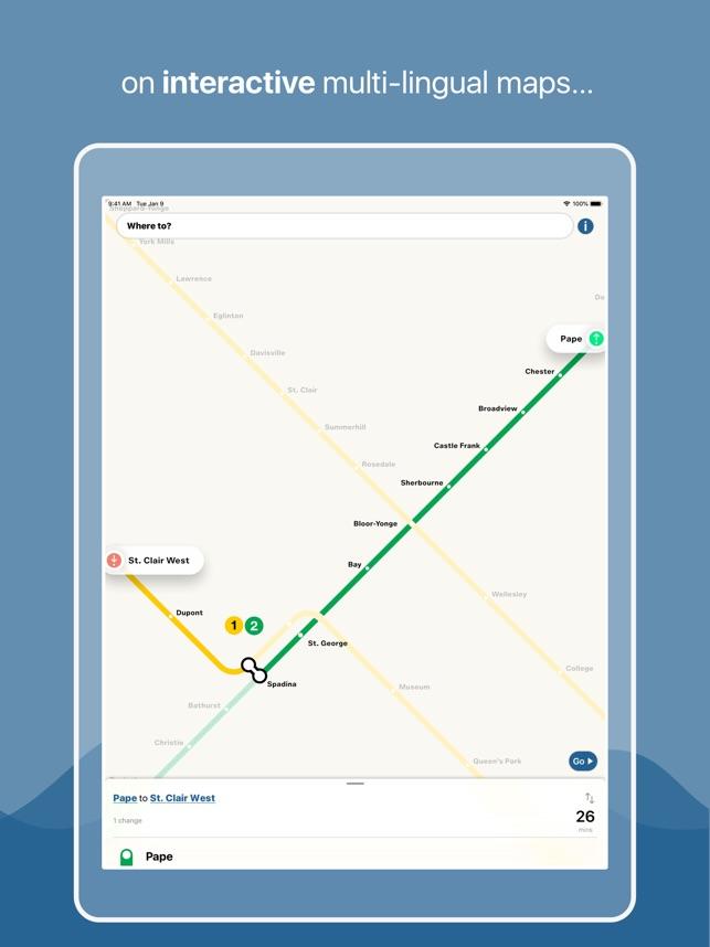 Toronto Subway Map App.Toronto Subway Map On The App Store