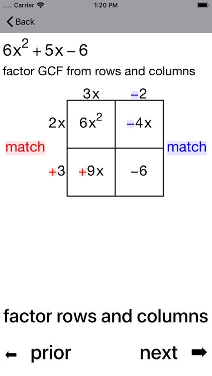 Quadratic Factoring screenshot-5