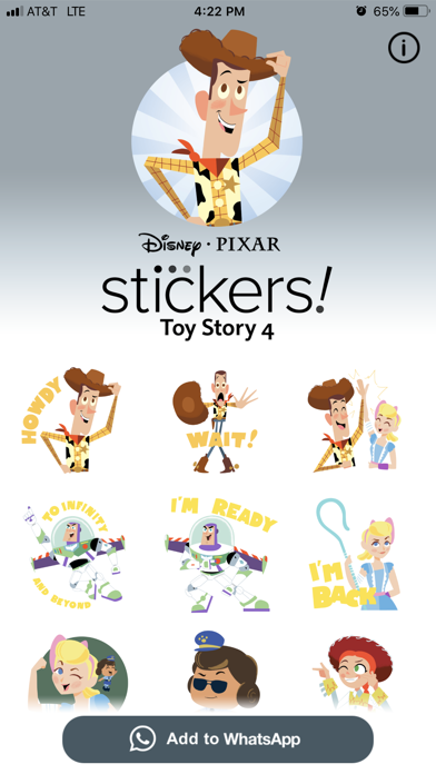 Pixar Stickers: Toy Story 4 screenshot 5