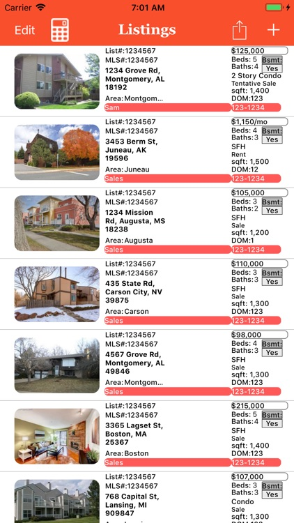Real Estate List
