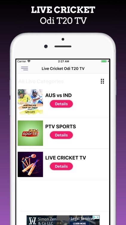 Live Cricket Odi T20 Tv screenshot-4