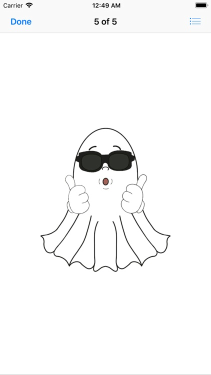 Cute Halloween Ghost stickers screenshot-6