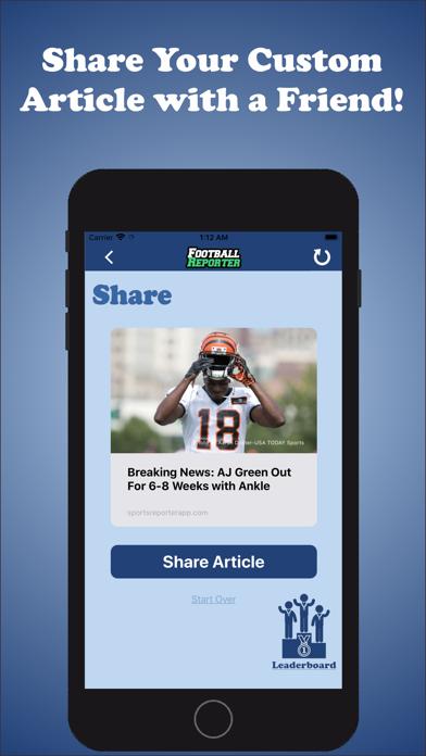 Football Reporter Screenshot