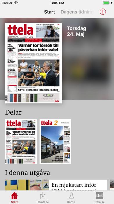 TTELA E-tidning på PC