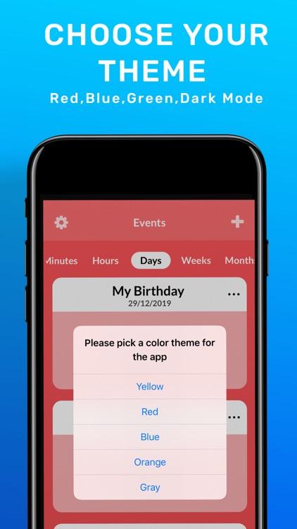 Countdown Reminder, Widget App screenshot-5