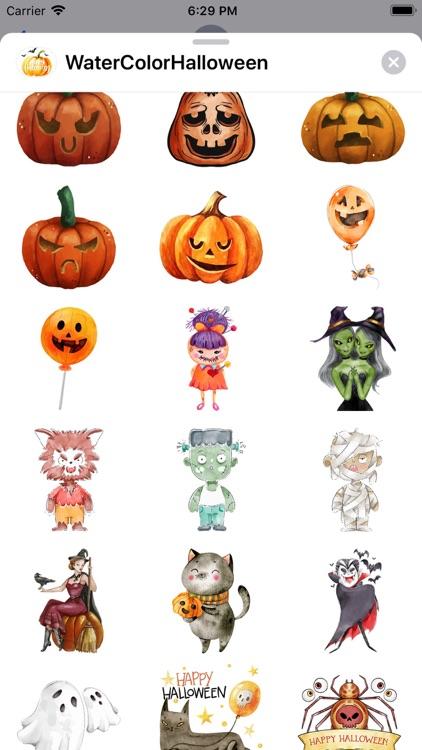 WaterColor Halloween Stickers screenshot-4