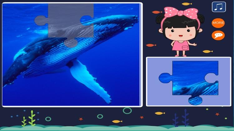 丫丫海洋动物拼图-智力开发游戏 screenshot-3