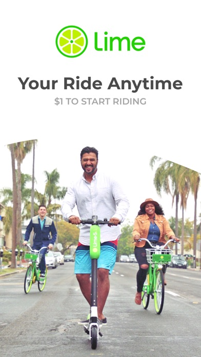 Lime - Your Ride Anytime Screenshot on iOS