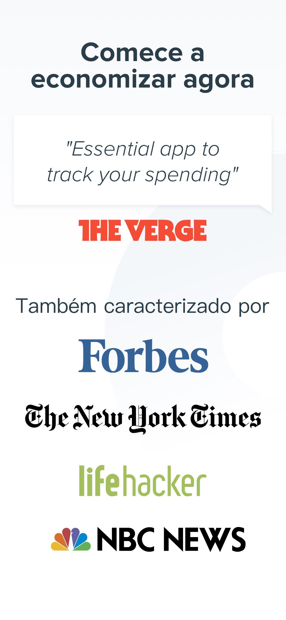 Screenshot do app Spendee: Controle Financeiro