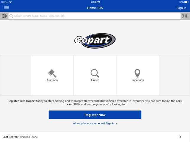 Copart Home Page >> Copart Salvage Car Auctions On The App Store