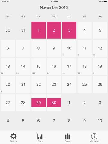Menstrual Period Tracker - náhled