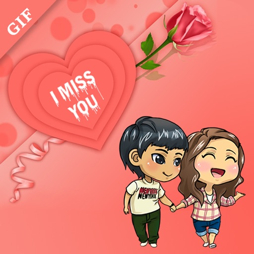 Miss You Gif - Stickers