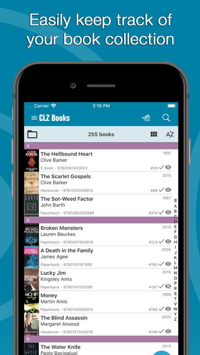 Screenshot #1 pour CLZ Books - Book Database