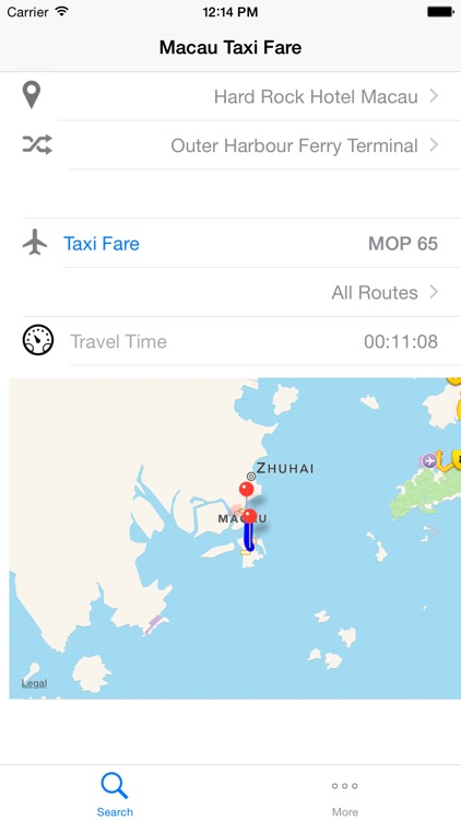 Macau Taxi Fare screenshot-0