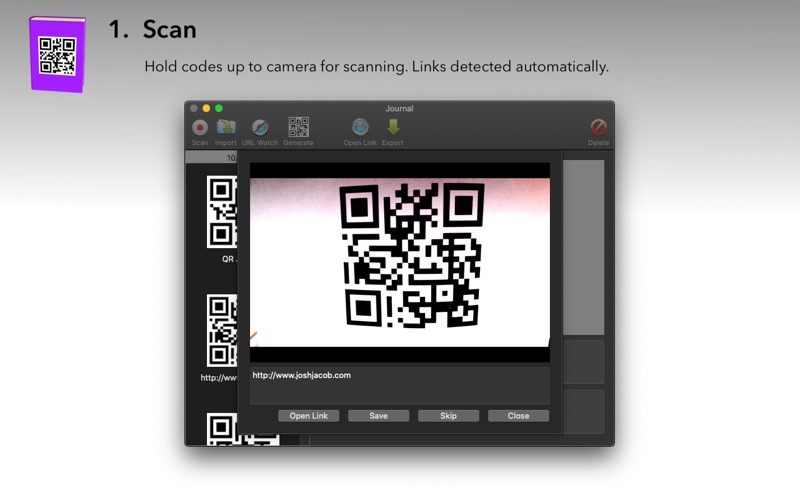 QR Journal for Mac