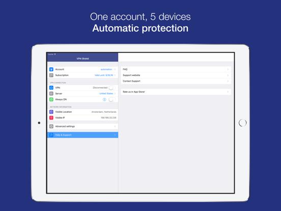 VPN Shield - Proxy Wi-Fi Security & Unblock Sites screenshot