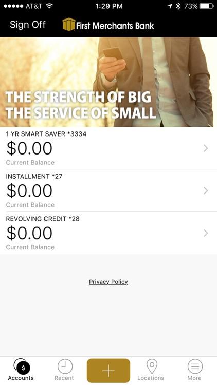 First Merchants Mobile App