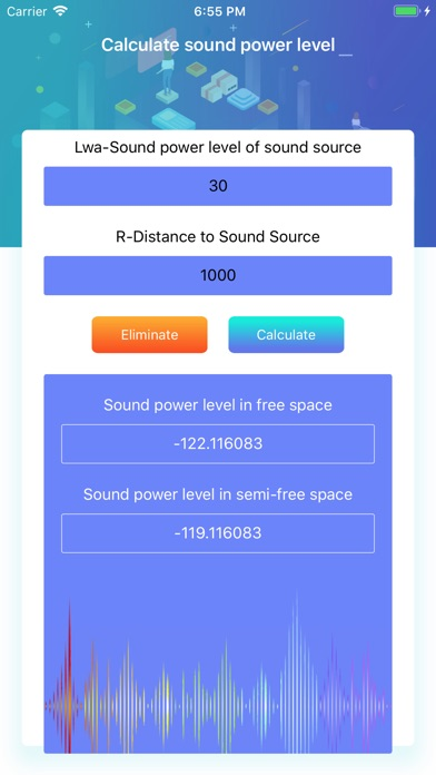 Calculate sound power level screenshot #4