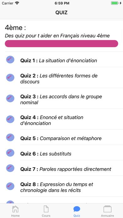 COURS QUIZ 4ème screenshot 6