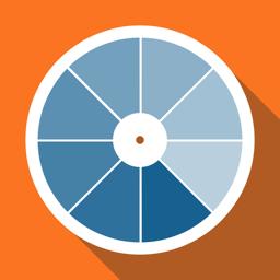 Ícone do app RAL colors. Paleta de cores 3D