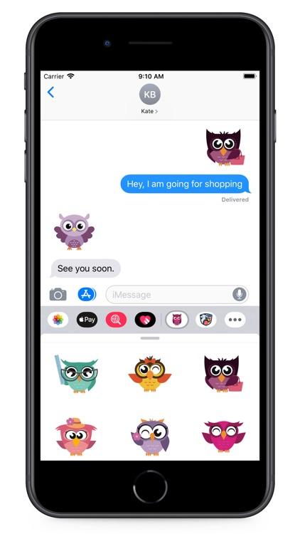 Owl Smiley Stickers screenshot-7