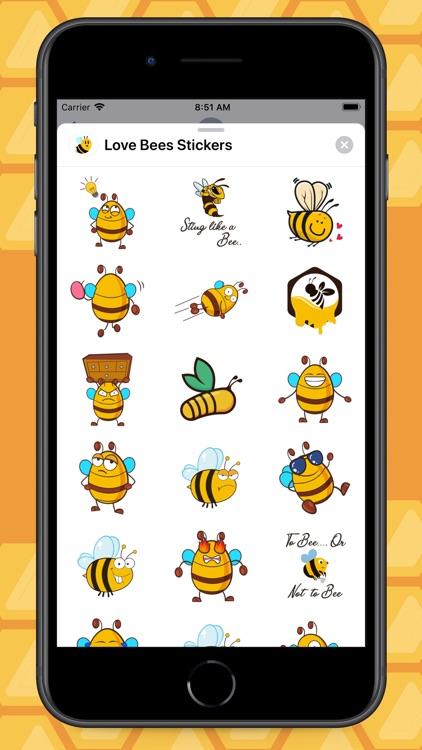 Love Bees Stickers screenshot-3