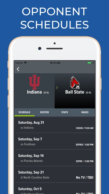 Indiana Football Schedules screenshot-6