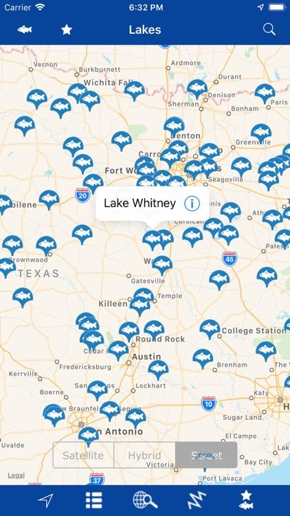 Texas – Fishing Lakes