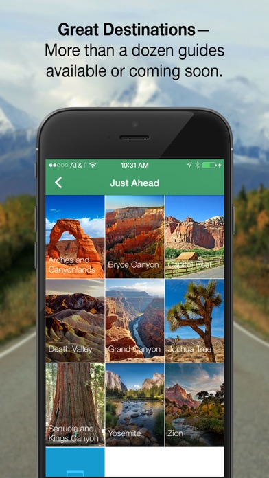 Just Ahead:Audio Travel Guides Screenshot