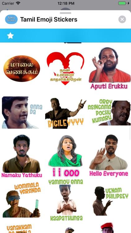 Tamil Emoji Stickers screenshot-5