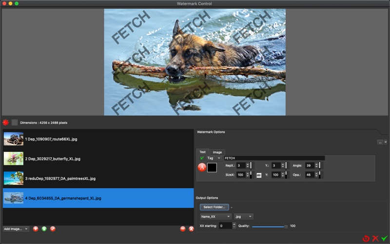 Watermark Control for Mac