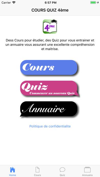 COURS QUIZ 4ème screenshot 2