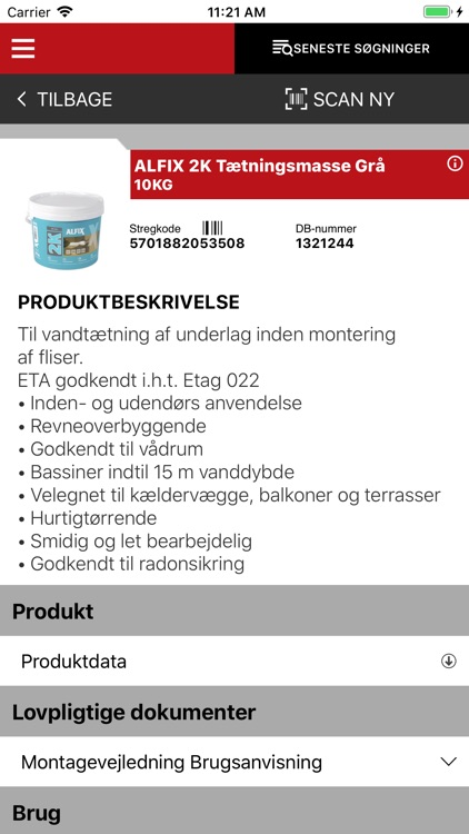 BYGMA Produktdata