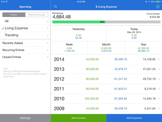 MoneyBook Pro Screenshots