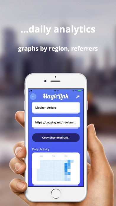 Magic Link URL Shortener app image