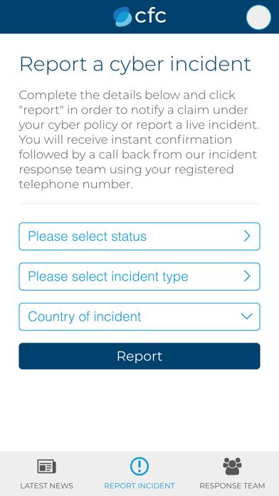 CFC Cyber Incident Response screenshot one