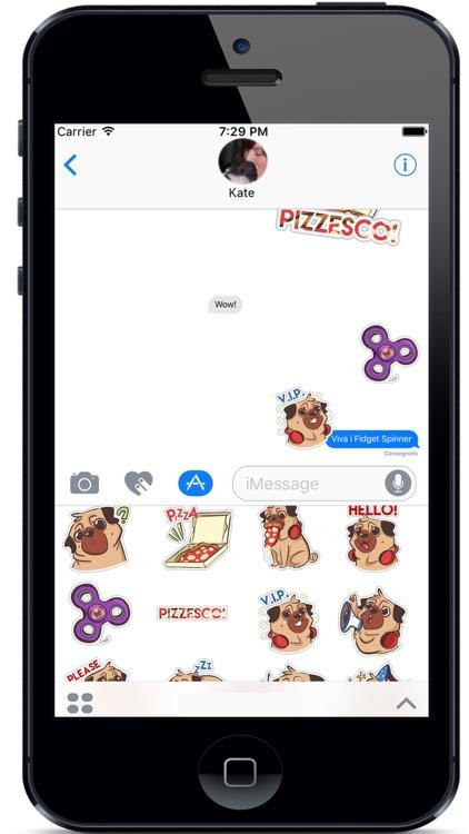 Dog Pug - Emoji Stickers
