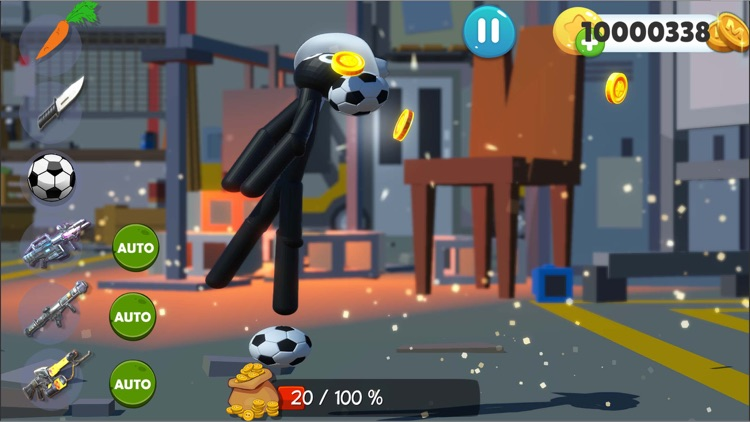 Kick The Stickman Buddy Game screenshot-5
