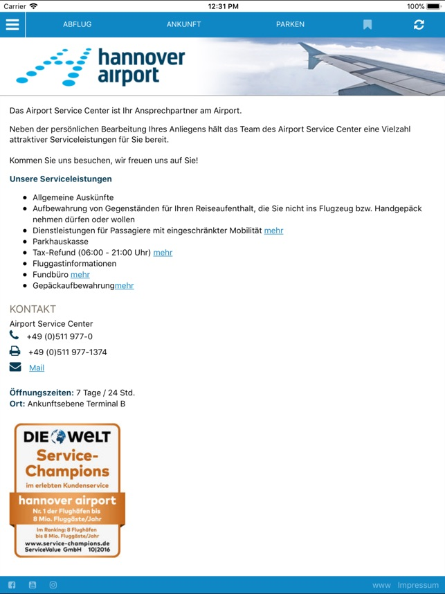 ankunft hannover airport