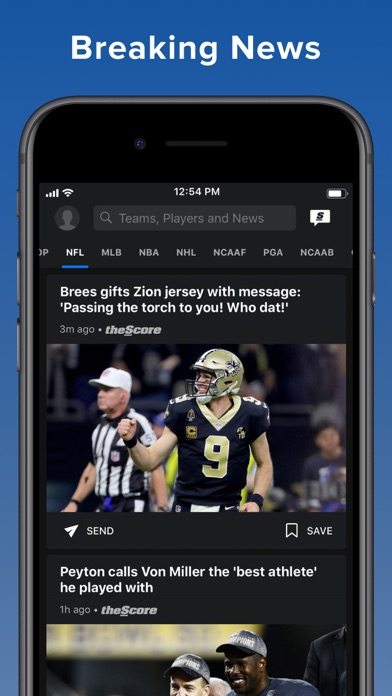 Screenshot for theScore: Sports News & Scores in Canada App Store