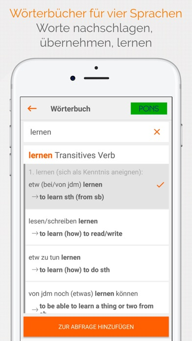 Screenshot for Vokabeltrainer phase6 classic in Germany App Store