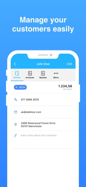 Rechnung schreiben - Debitoor Screenshot
