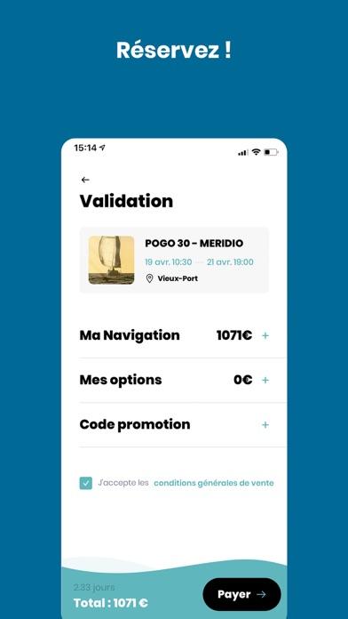 Screenshot of SailEazy App