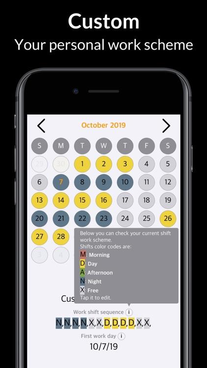 Rosta – My Shift Work Calendar