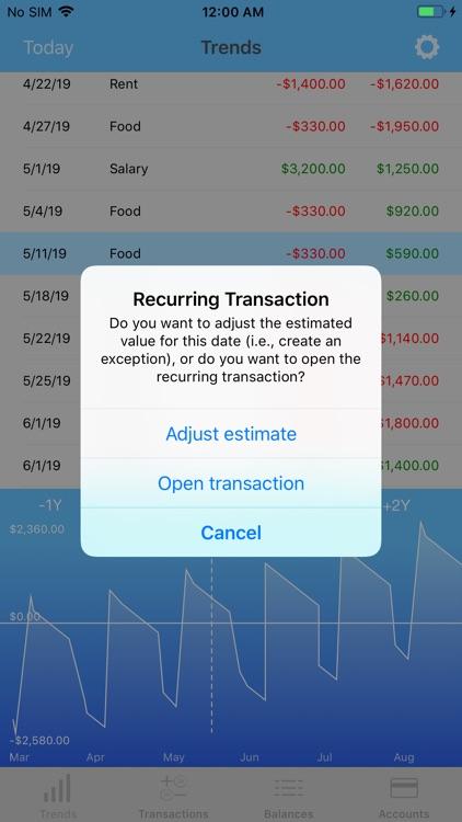 Money Forecast: CashFlow screenshot-5