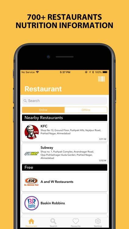 NutriSmart - Fast Food Tracker screenshot-0