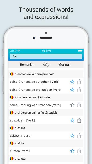 German Romanian Dictionary + screenshot 2