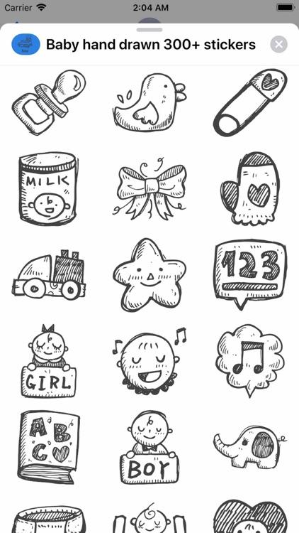 Baby hand drawn 300+ stickers screenshot-3