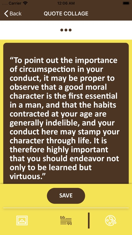 Wisdom of George Washington