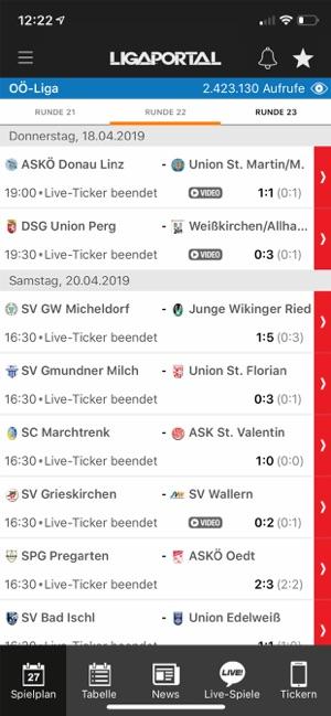 Ligaportal Fussball Live Ticker Az App Store Ban